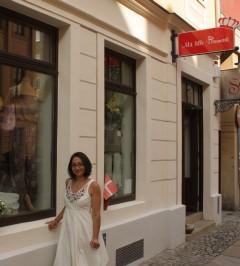 Eingangsbereich zur Boutique Mit lille Danmark mit Margret Schneider-Lange