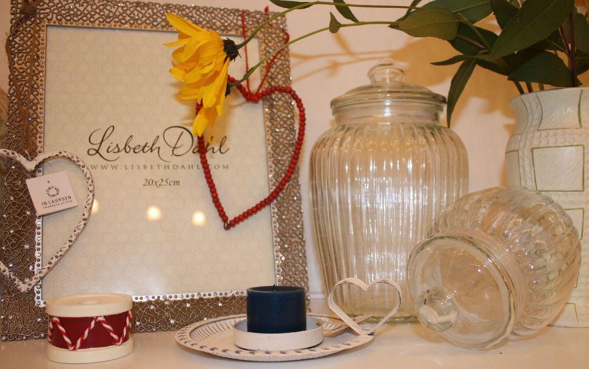 Ib-Laursen Glaskrug, Kerzenhalter und Herz zum Anhängen sowie ...