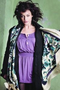 Mantel und Tuch von der Herbstkollektion 2010 von Noa Noa