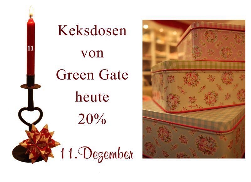 Am 11.12.2010 gibt es die Keksdosen von Greengate.