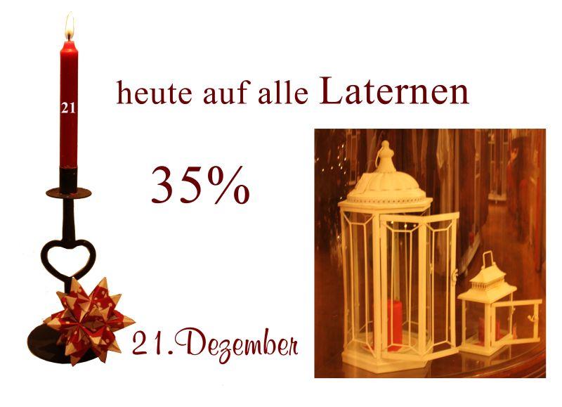 Laternen von Ib-Laursen in verschiedenen Formen und Farben gibt es am 21.12.2010 im Angebot.