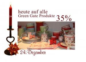 Die Produkte von GreenGate sind am 24.12.2010 um 35% reduziert.