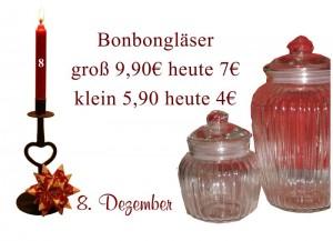 Am 08.12.2010 gibt es die Bonbongläser von Ib-Laursen für 4 und 7 Euro.
