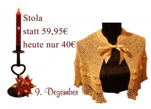 Das Angebot des Julekalenders für den 9. Dezember ist eine Stola von Noa-Noa.