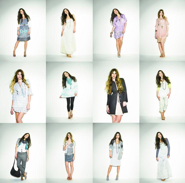 Kleider, Röcke, Basics,... viele Kombinationen der Frühlingskollektion sind im Lookbook dargestellt.