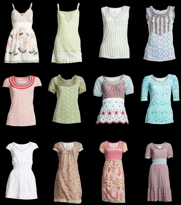 Eine Auswahl verschiedener Tunikas und Kleider aus der Sommer-Kollektion (2011) von Container.