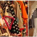 Links sind Kleider von Margot und rechts Schaufensterpuppen mit Staff-Outfit zu sehen.