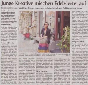 Das Barockviertel in Dresden wird vom Wochenkurier Dresden in seiner Entwicklung der letzten Jahre positiv kritisiert. Besonders junge Läden wie der unsere werden hervorgehoben.