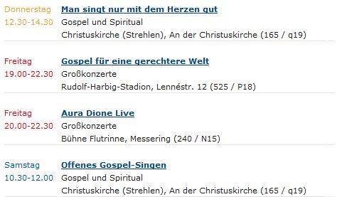 Vier Veranstaltungen mit dänischer Besetzung finden zum Kirchentag 2011 in Dresden statt.
