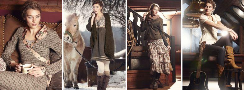 Das Container-Cowgirl präsentiert sich im Herbst-Katalog 2011 bewußt amerikanisch.