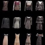 In der Winter-Kollektion sind zu sehen: Romantische Paisley-Muster und klassischer Ornamentik, weiche blumig bedruckte Jerseys, Tapet-Drucke und Vintage-Velours.