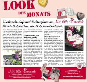"""Im """"Look des Monats"""" wurde am 24.11.2011 in der Sächsischen Zeitung Mit lille Danmark unter dem Motto """"Weihnachtsduft und Lichterglanz"""" vorgestellt."""