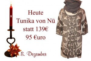 Tolle Tunikas von Nü by Staff-Woman gibt es zu reduzierten Preisen am Donnerstag den 8. Dezember.
