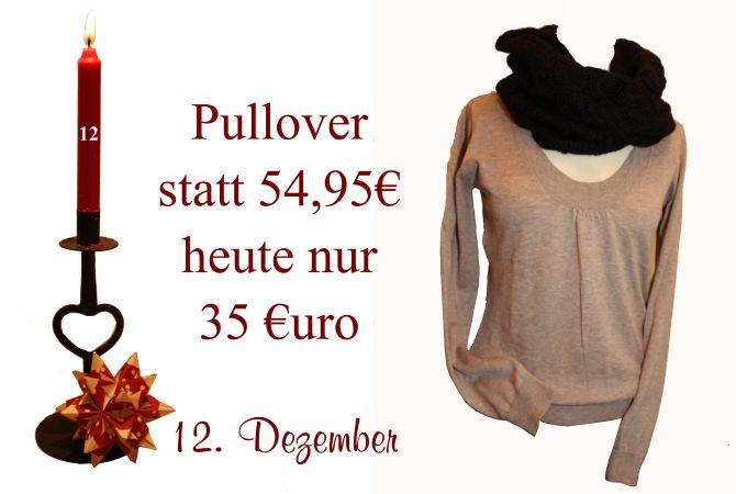 Am Montag den 12. Dezember gibt es den gezeigten Noa-Noa Pullover für nur 35€ statt 54,95€.