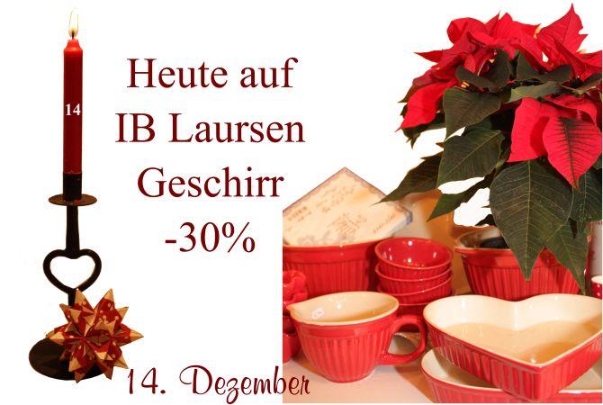 Am Mittwoch gibt es 30% auf alle Tassen, Becher, Schalen, Schüsseln oder Kuchenformen von Ib-Laursen.