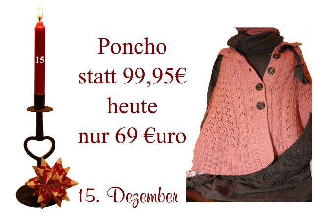 Von Noa-Noa gibt es diesen Poncho am Donnerstag den 15. Dezember um 30% reduziert.