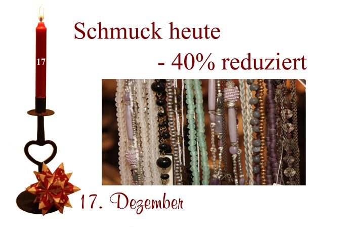 Schmuck von Noa-Noa, Sence und Lisbeth-Dahl sind am Sonnabend den 17.12.2011 um 40% reduziert.