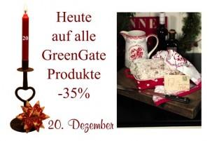 Alle Produkte von GreenGate sind am Dienstag den 20. Dezember um 35% reduziert.