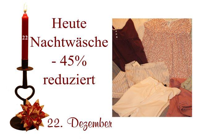 Am Donnerstag den 22. Dezember ist die Nachtwäsche von Noa-Noa um 45% reduziert.