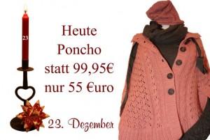 Nahezu 50% Rabatt gibt es auf den Noa-Noa Poncho am Freitag den 23. Dezember.