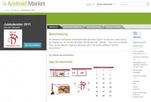 Für Smartphones mit dem Betriebssystem Android gibt es die Julekalender 2011 App zum kostenlosen Download.