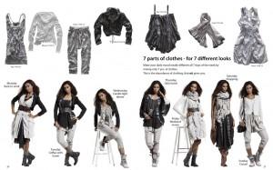 Spring / Summer 2012 - Nü by Staff-Woman zeigt, wie man mit sieben verschiedenen Kleidungsstücken sieben verschiedene Looks kreiert.
