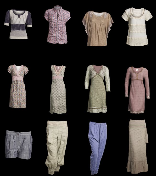 In der Frühlings-Kollektion 2012 gibt es vom dänische Label Container Blusen, Shirts, Cardigans, Kleider, Tunikas, Shorts, Hosen, Röcke, Jacken und Mäntel.