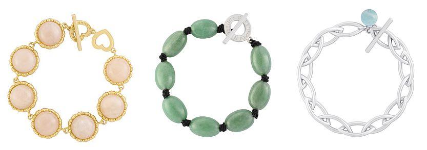 Die Armbänder von Sence-Copenhagen sind mit verschiedenen Halb-Edelsteinen (hier Amazonite und Aventurin) besetzt, die es natürlich auch in verschiedenen Farben gibt.