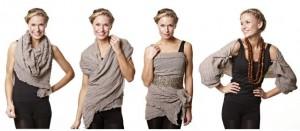 One Scarf - Endless Opportunities - Tücher von Nü by Staff-Woman sind vielfältig einsetzbar: Als Halstuch, als Kleid, als Schulterwärmer,...