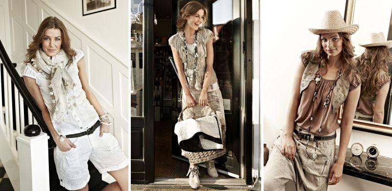 Auch ein eher sportlicher Typ fühlt sich mit der Sommerkollektion 2012 von Nü by Staff-Woman pudelwohl.