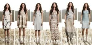 Kleider, kurze Röcke, lange Röcke und Oberteile von Container Mode aus Dänemark finden sich in der Kollektion: Container Summer 2012.