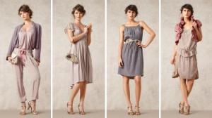 """Im Thema """"Occasion"""" aus der Sommerkollektion 2012 von Noa-Noa gibt es bspw. ein Seidenprogramm bestehend aus einem Kleid, einer Hose, einem Rock und einem Oberteil."""