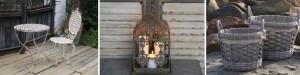 Wohnaccessoires der Frühlingskollektion 2012 von Chic Antique haben den Charme französischer Mittelmeermärkte.