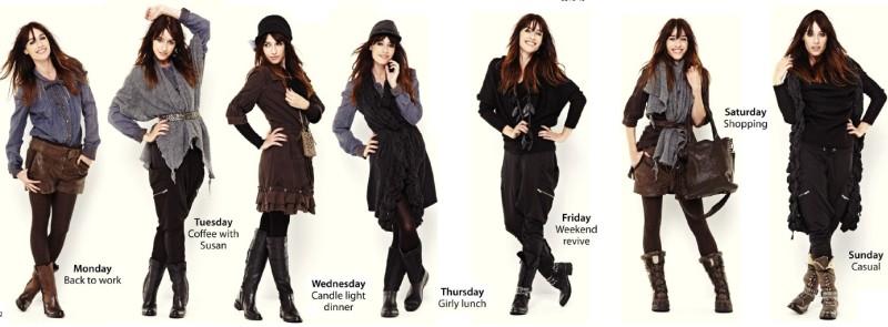 Jeden Tag in der Woche einen neuen Look kreieren. Und das mit nur 7 Kleidungsstücken. Solche eine Kombinationsfähigkeit kann nur Nü by Staff-Woman aufweisen.