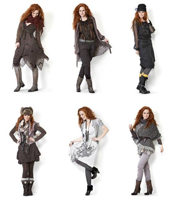 Halbdurchsichtige Kleider und Tops, Tücher, Hosen, Gestricktes und Herbst-Stiefel sind Teil der Herbst-Kollektion 2012 von Nü by Staff Woman.