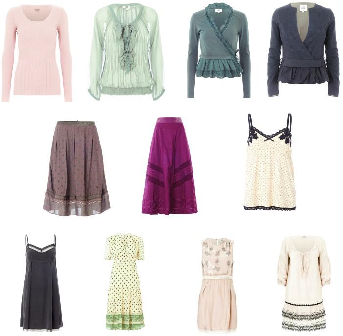 Langarm-Shirts, Cardigans, Strickjacken, Röcke, Kleider in allen Herbstfarben der Saison 2012 gibt es in der Herbskollektion von Noa-Noa.