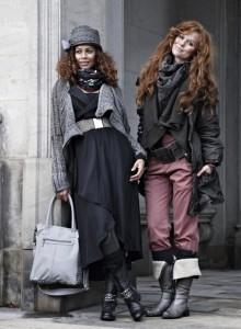 Den Lagen-Look kann man im Winter mit der Kollekton von Nü by Staff-Woman ganz besonders gut in Szene setzen.