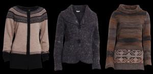 Von links nach rechts: 1. 1-2191 Nya Cardigan; 2. 1-2193 Noa Jacke; 3. 1-2184 Nilla Cardigan