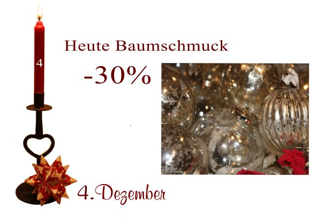 Julekalender 4 Tur Christbaumschmuck 30 Reduziert Danische
