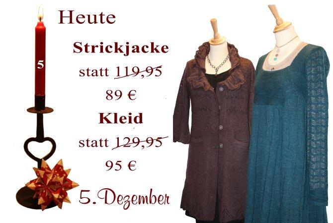 Die Noa-Noa Strickjacke (1-0156-2, precious knit, cardigan 3/4 sleeve) gibt es in den Farben proud, iron, raisin und phantom zum reduzierten Preis von nur 89€ statt 119,95€. Das Noa-Noa Kleid (1-1751-1, precious knit, dress long sleeve) gibt es in den Farben proud, raisin und iron zum reduzierten Preis von nur 95€ statt 129,95€.