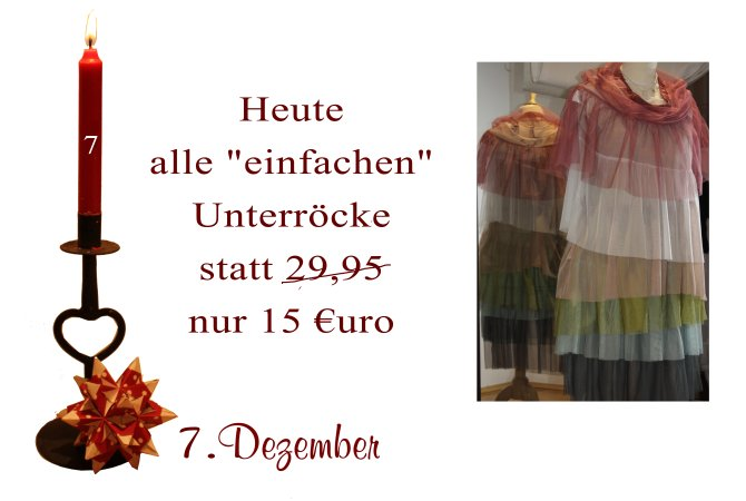 Ein Dutzend verschiedene Unterröcke von Noa-Noa sind am 7.12.2012 für nur 15€ statt 29,95€ zu haben.