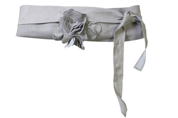 Femininer Gürtel (3191-73) von Nü by Staff-Woman - mit Stoff-Blume.