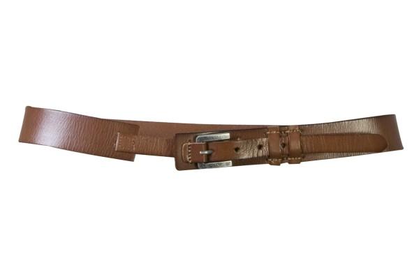 Nü by Staff-Woman - toller eleganter brauner Gürtel mit silberner Schnalle.