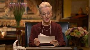 Die Neujahrsrede von Königin Margrethe II als Video auf den dänischem Fernsehsender DR1.