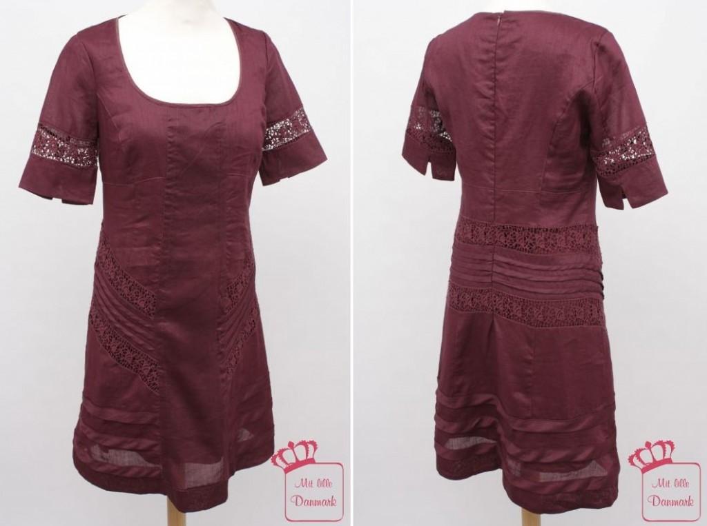 """In der Farbe """"Burgundy"""" gibt es das Kleid """"Attraction"""" (1-1293-1) aus der Noa-Noa Herbst-Kollektion 2012."""