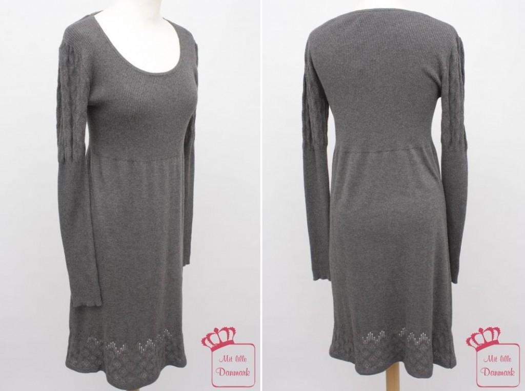 """Strickmuster an den langen Ärmeln sowie durchscheinendes Muster unten: Kleid """"L ess Cotton Melange 01"""" (1-1286-1) aus der Noa-Noa Herbst-Kollektion 2012."""