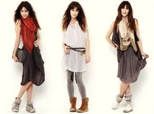 Nü by Staff-Woman - Spring 2013 - Hier zu sehen sind Outfits im Lagenlook mit Kleidern.