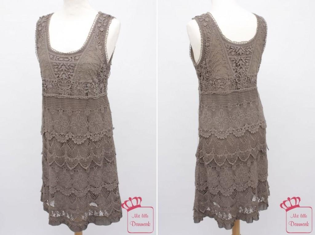 Ärmelloses Kleid 3128-23 in der Farbe Grau-Braun (222) von Nü by Staff-Woman.