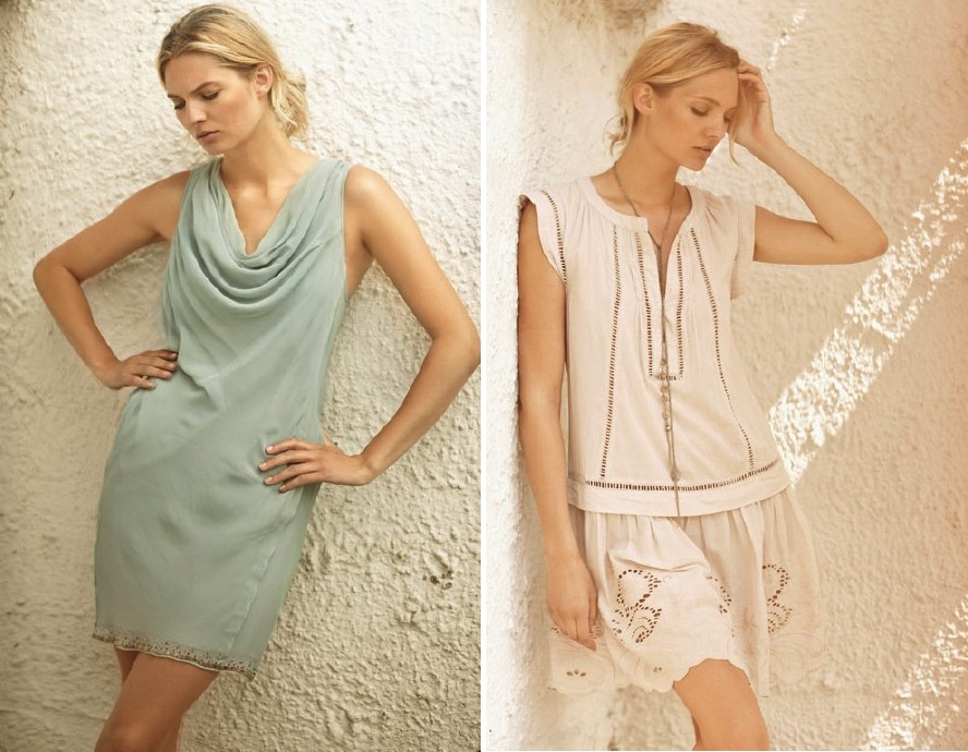 Links: Dress 1-2269-1; Rechts: Dress 1-2267-1, Necklace 1-2104-1