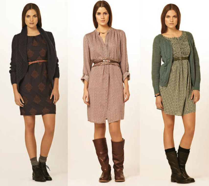 Herbstmode damen kleider